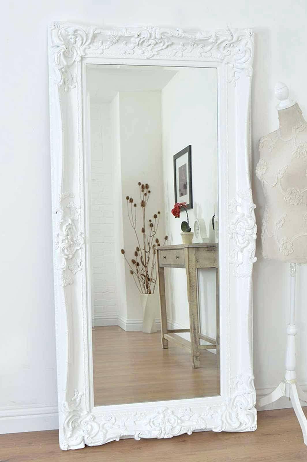 Long Wall Mirrors Indoor Full Length Mirror Wood Frame Large With Beveled Full Length Mirrors (View 6 of 15)