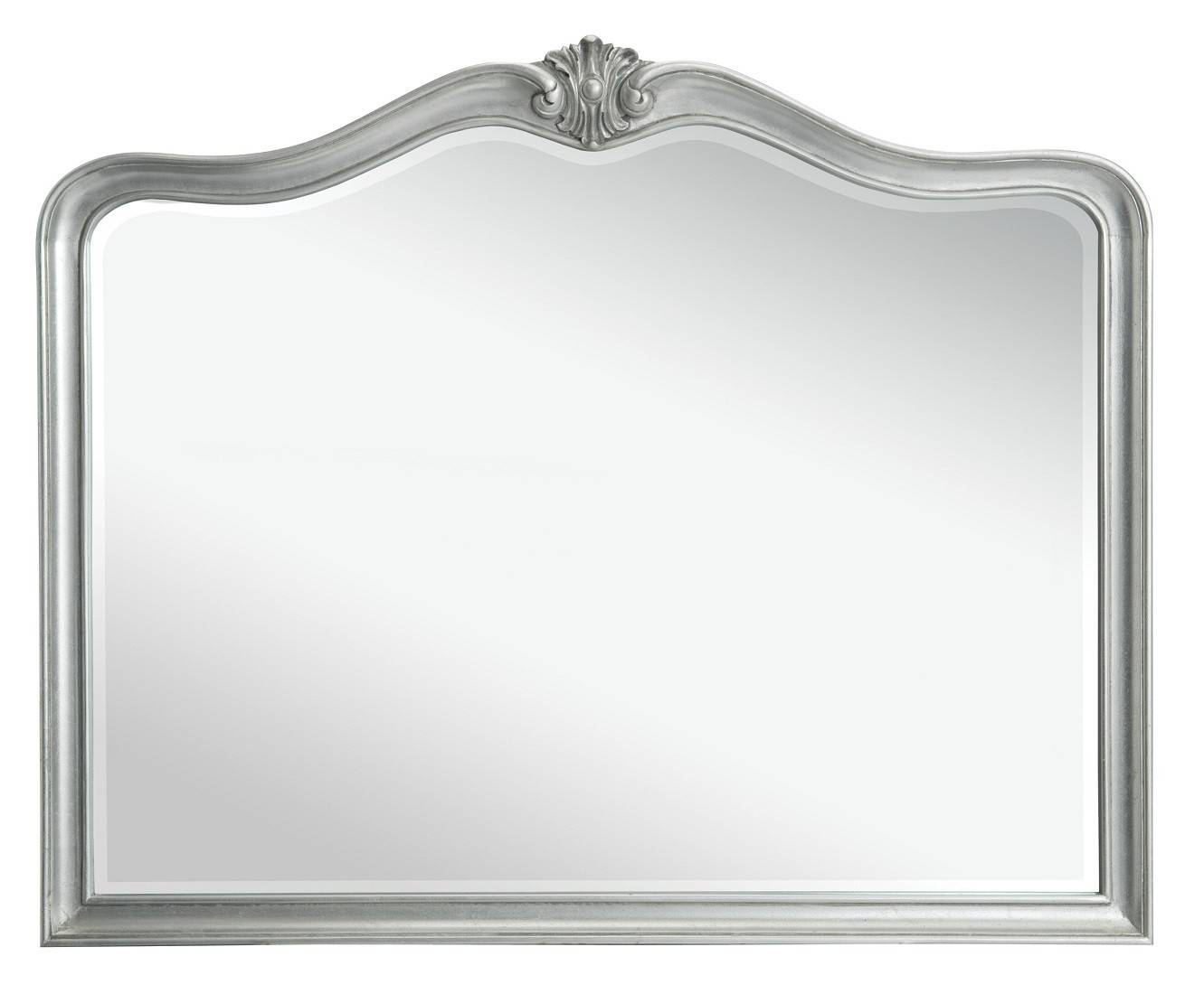 Louis French Silver Leaf Wall Mirror | Oak Furniture Uk for French Chic Mirrors (Image 7 of 15)