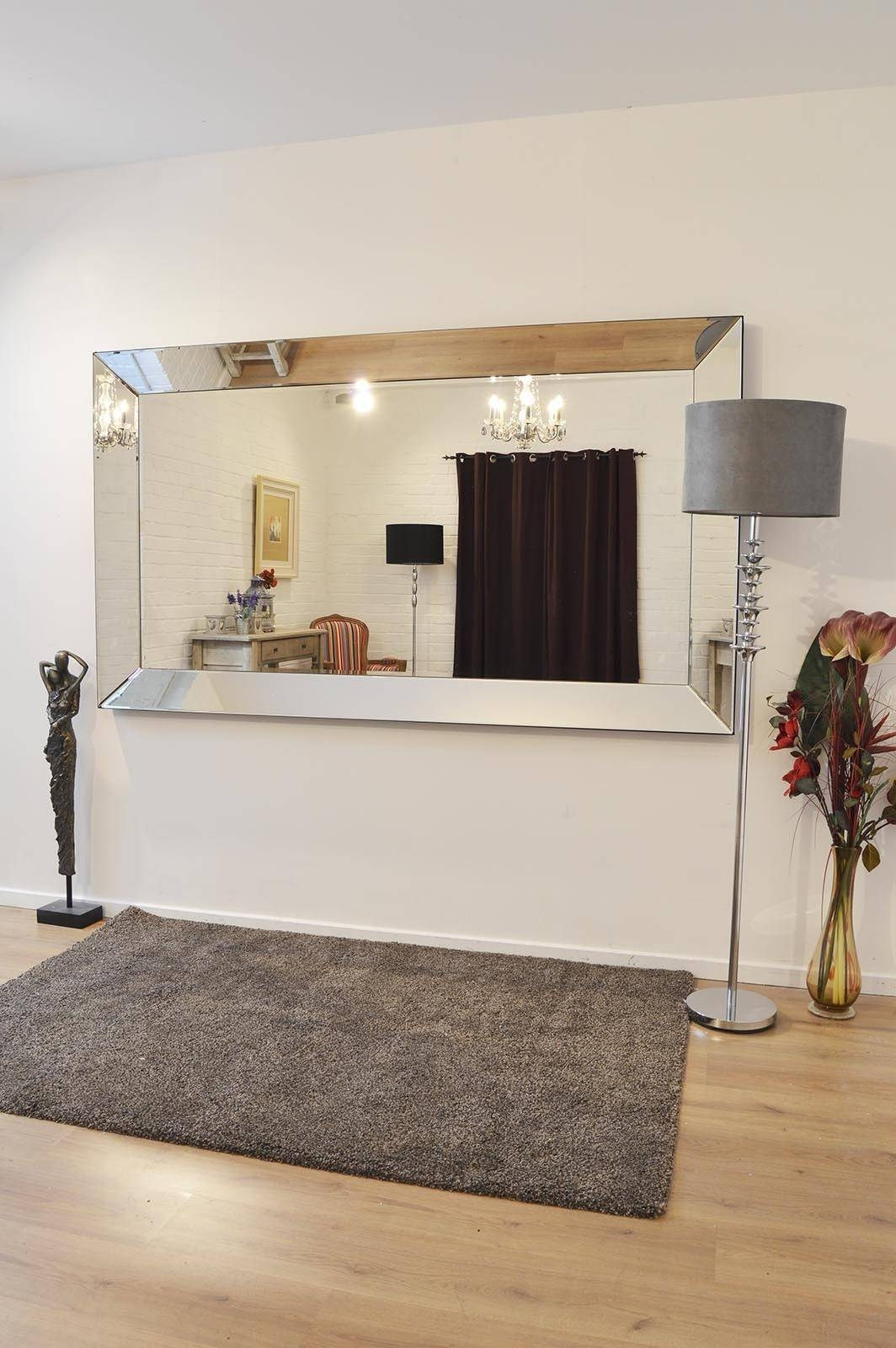 Lovely Design Large Designer Wall Mirrors Large Modern Mirror With In Modern Contemporary Wall Mirrors (View 7 of 15)