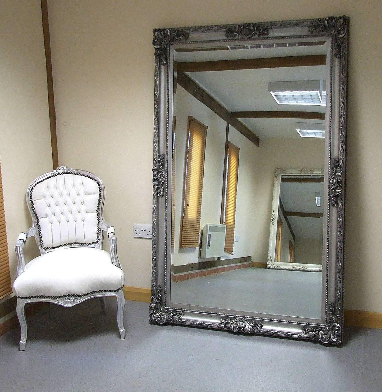 Lovely Leon Extra Large Vintage Full Length Wall Leaner Mirror Regarding Vintage Floor Length Mirrors (View 10 of 15)