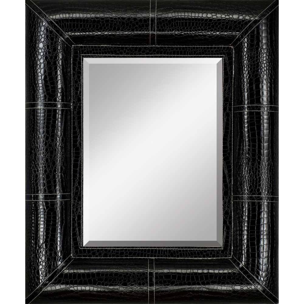 Popular Photo of Black Leather Framed Mirrors