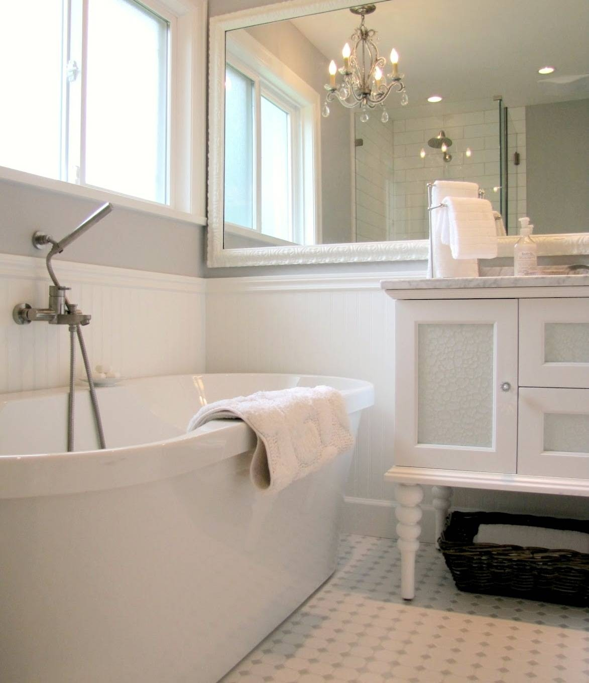 Marvelous Country Bathroom Mirrors Wall Home Cottage Rustic Style In French Style Bathroom Mirrors (View 15 of 15)