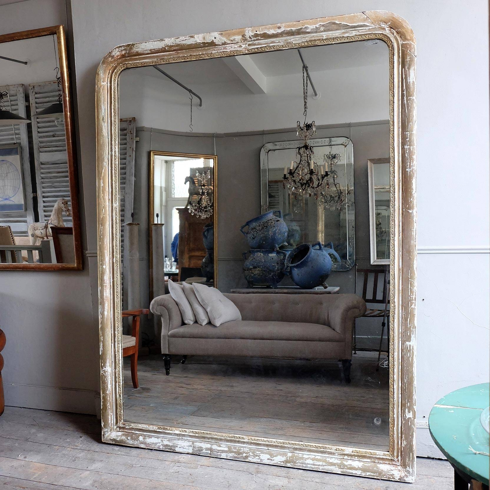 Massive Antique Mirror › Puckhaber Decorative Antiques regarding Huge Antique Mirrors (Image 10 of 15)