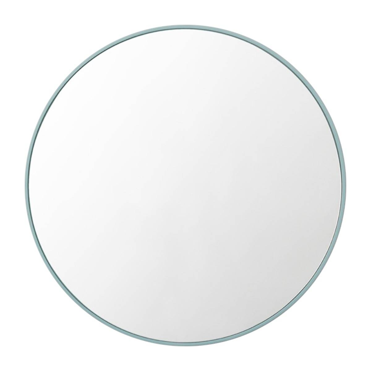 Middle Of Nowhere – Flynn Round Mirror (dusty Blue) – Modern Inside Blue Round Mirrors (View 2 of 15)