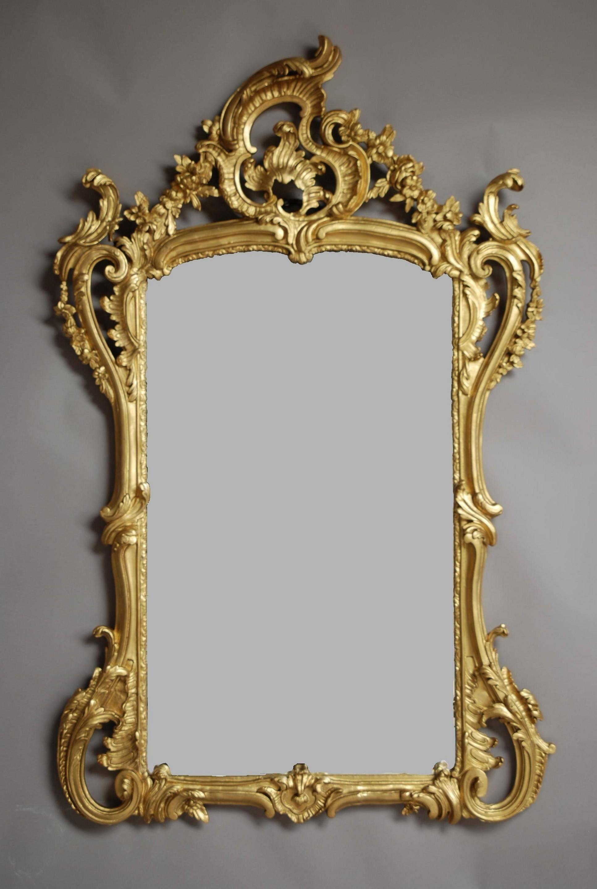 Mirror : 19Th Century French Mirror In The Rococo Manner (1880 Within Large Rococo Mirrors (View 7 of 15)