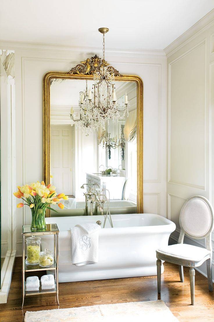 Mirror : A H A Beautiful French Style Bathroom Mirror Beautiful Intended For French Style Bathroom Mirrors (View 6 of 15)