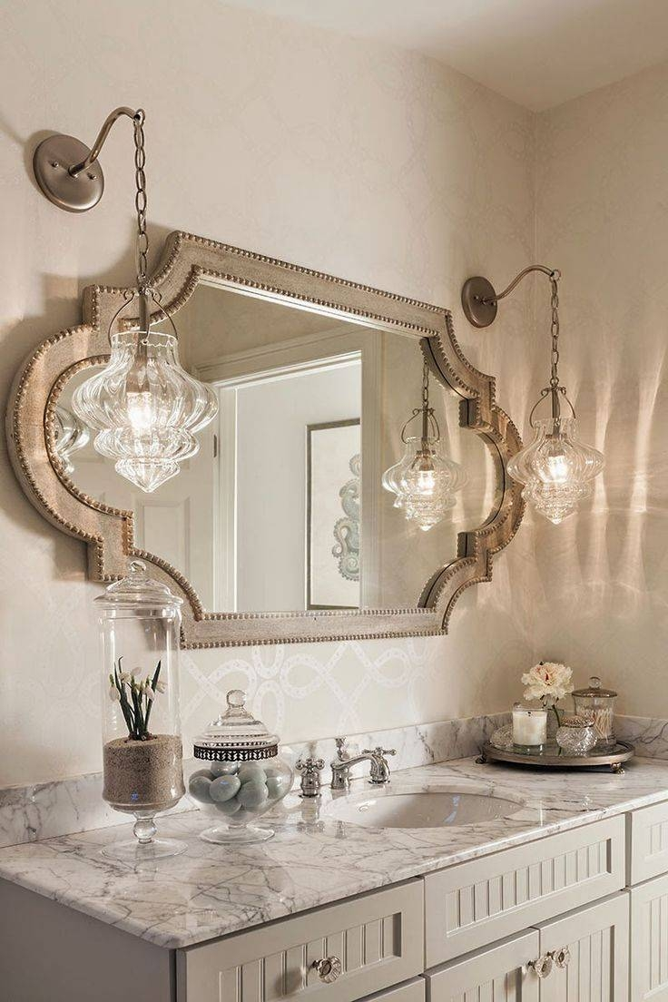 Mirror : A H A Beautiful French Style Bathroom Mirror Beautiful Regarding French Style Bathroom Mirrors (View 13 of 15)