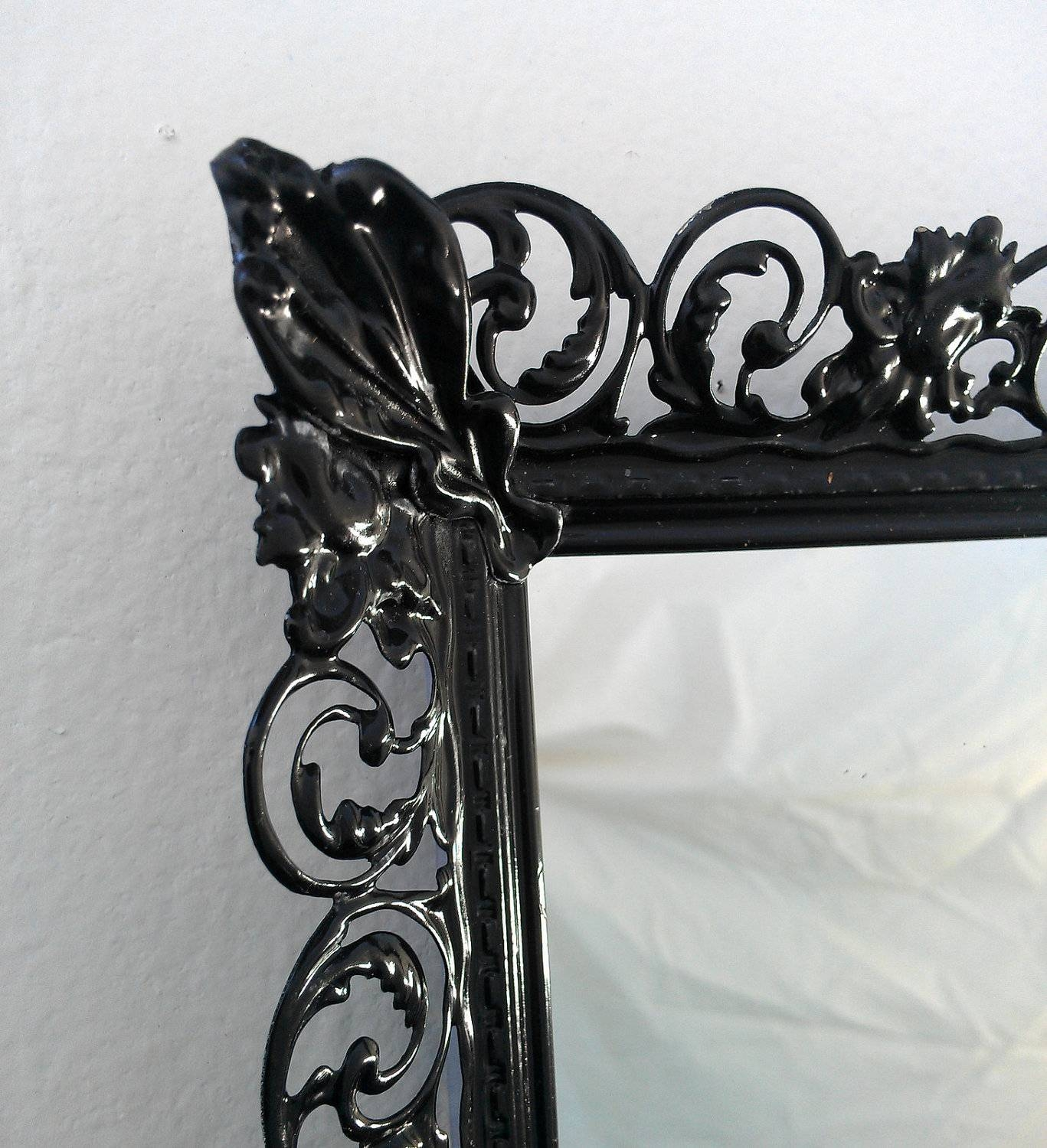 Mirror : Alarming Black Antique Mirror Chest Excellent Powell in Black Antique Mirrors (Image 8 of 15)