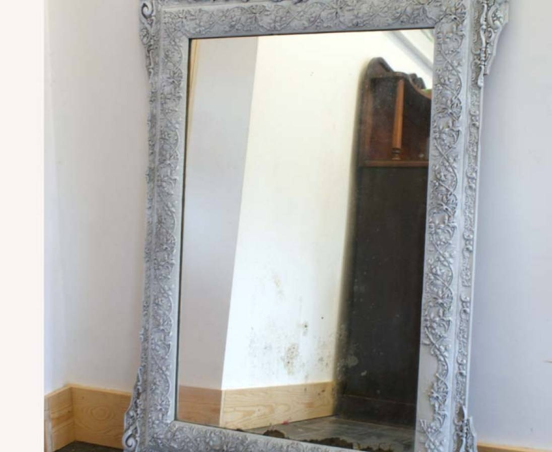Popular Photo of Shabby Chic White Distressed Mirrors