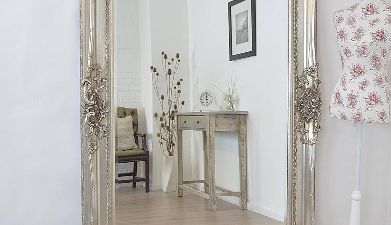 Mirror : Antique Full Length Wall Mirror Charming White Vintage For Antique Full Length Wall Mirrors (View 6 of 15)