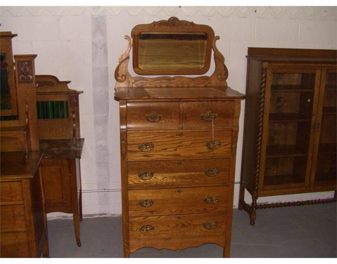 Mirror : Antique Oak Buffet With Mirror 7 Stunning Decor With With Antique Oak Mirrors (View 4 of 15)
