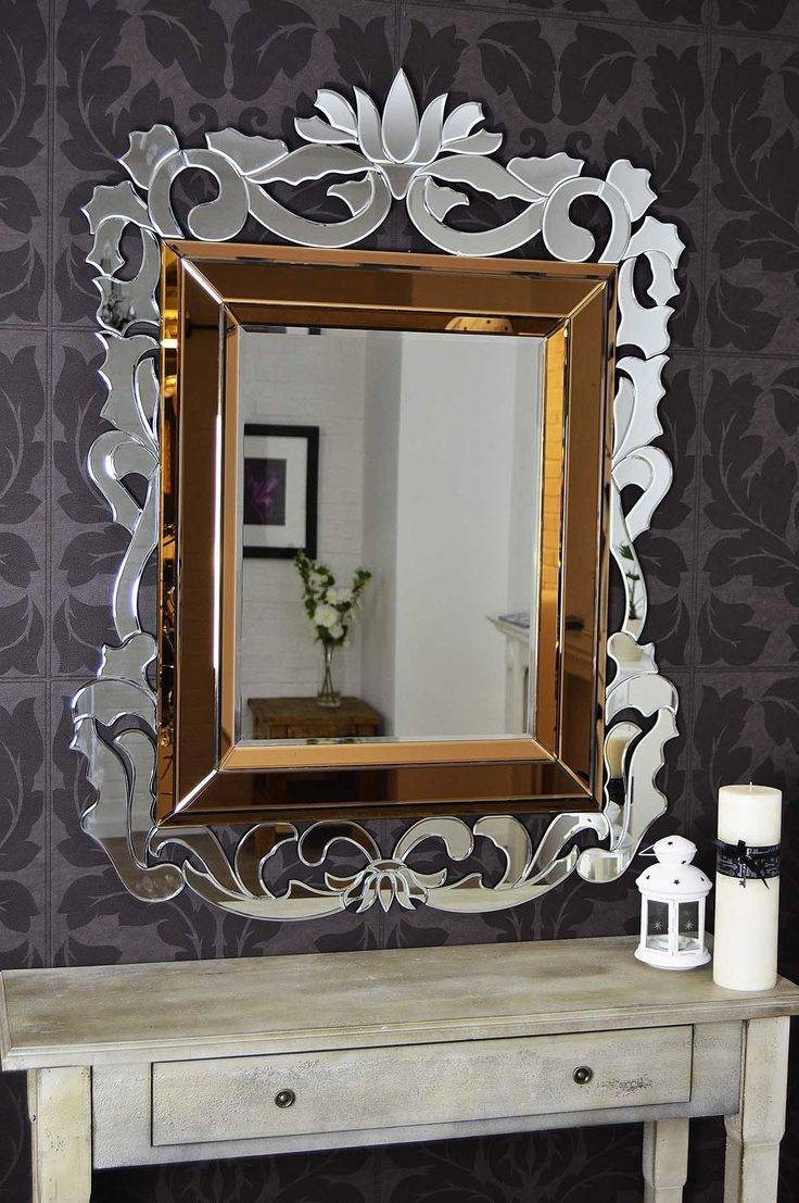 Mirror : Appealing Large Venetian Bubble Mirror Interesting Large Pertaining To Venetian Bubble Mirrors (Photo 10 of 15)