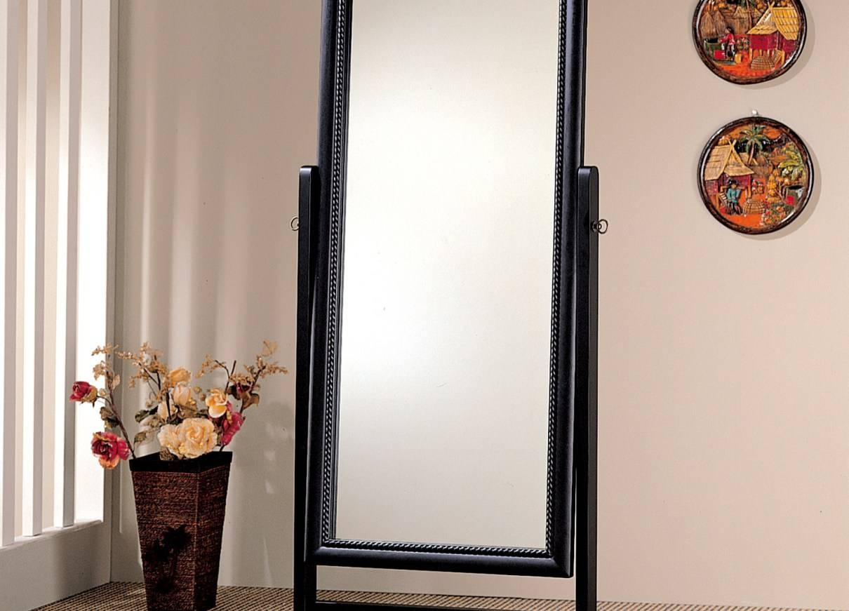 Mirror : Awesome Standing Jewelry Mirror Armoire Design Awesome intended for Full Length Stand Alone Mirrors (Image 8 of 15)