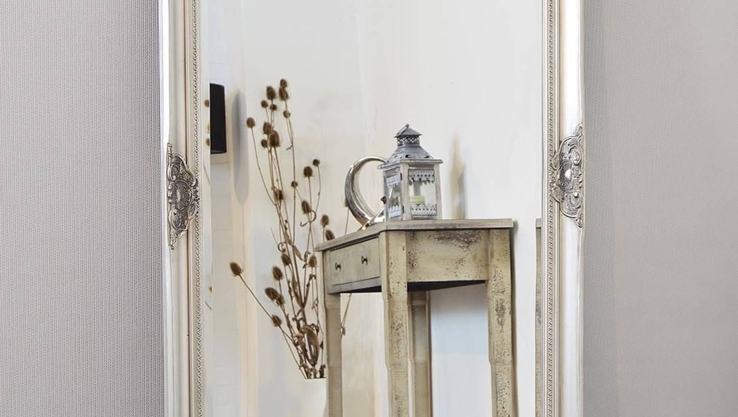 Mirror : B Beautiful Shabby Chic Long Mirror Large Cream Vintage for Shabby Chic Long Mirrors (Image 6 of 15)