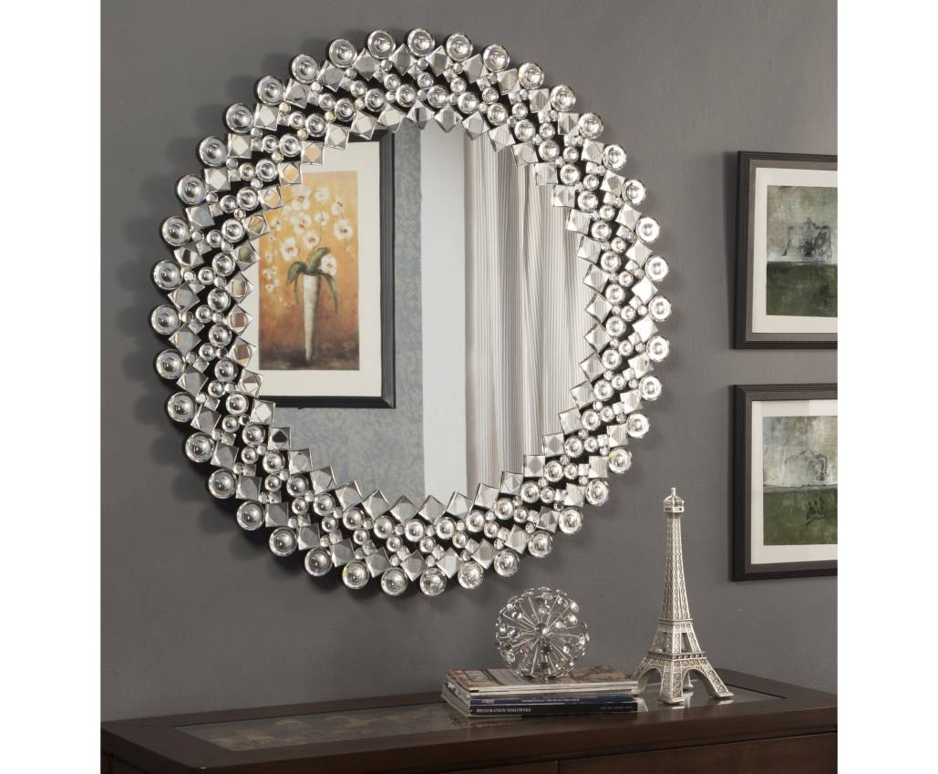 Mirror : B Beautiful Wall Mirror With Crystals Beautiful Glitter With Liquid Glass Mirrors (View 4 of 15)