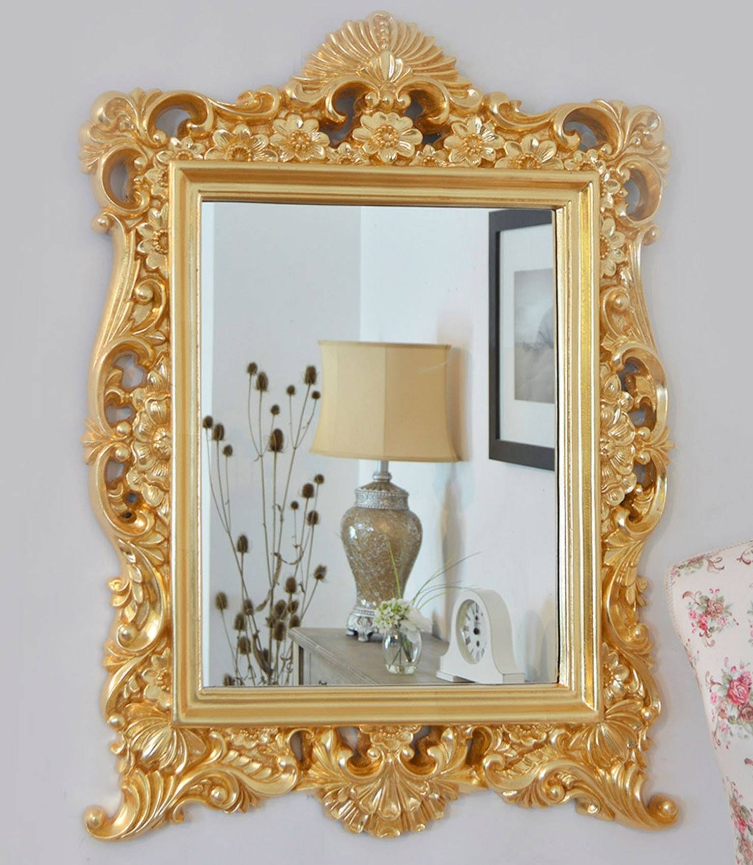 Mirror : Baroque Style Mirrors Awful Baroque-Style Mirror Shelf with regard to Baroque Gold Mirrors (Image 12 of 15)