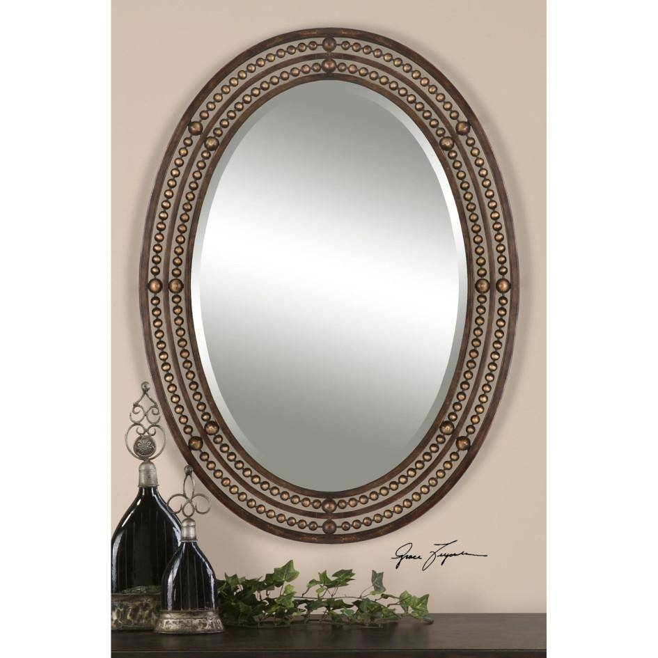 Mirror : Bathroom Ideas: Leaves Cheap Oval Bathroom Mirrors Under inside Oval Shaped Wall Mirrors (Image 2 of 15)