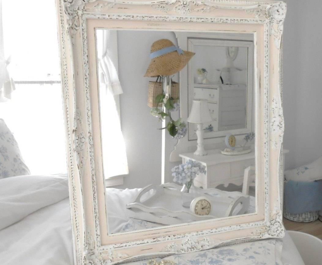 Mirror : Beautiful Big Shabby Chic Mirrors This Antique Mirror for Big Shabby Chic Mirrors (Image 6 of 15)