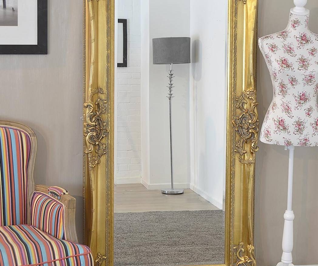 Mirror : Beautiful Large Floor Standing Mirrors Leaning Floor inside Cream Floor Standing Mirrors (Image 9 of 15)