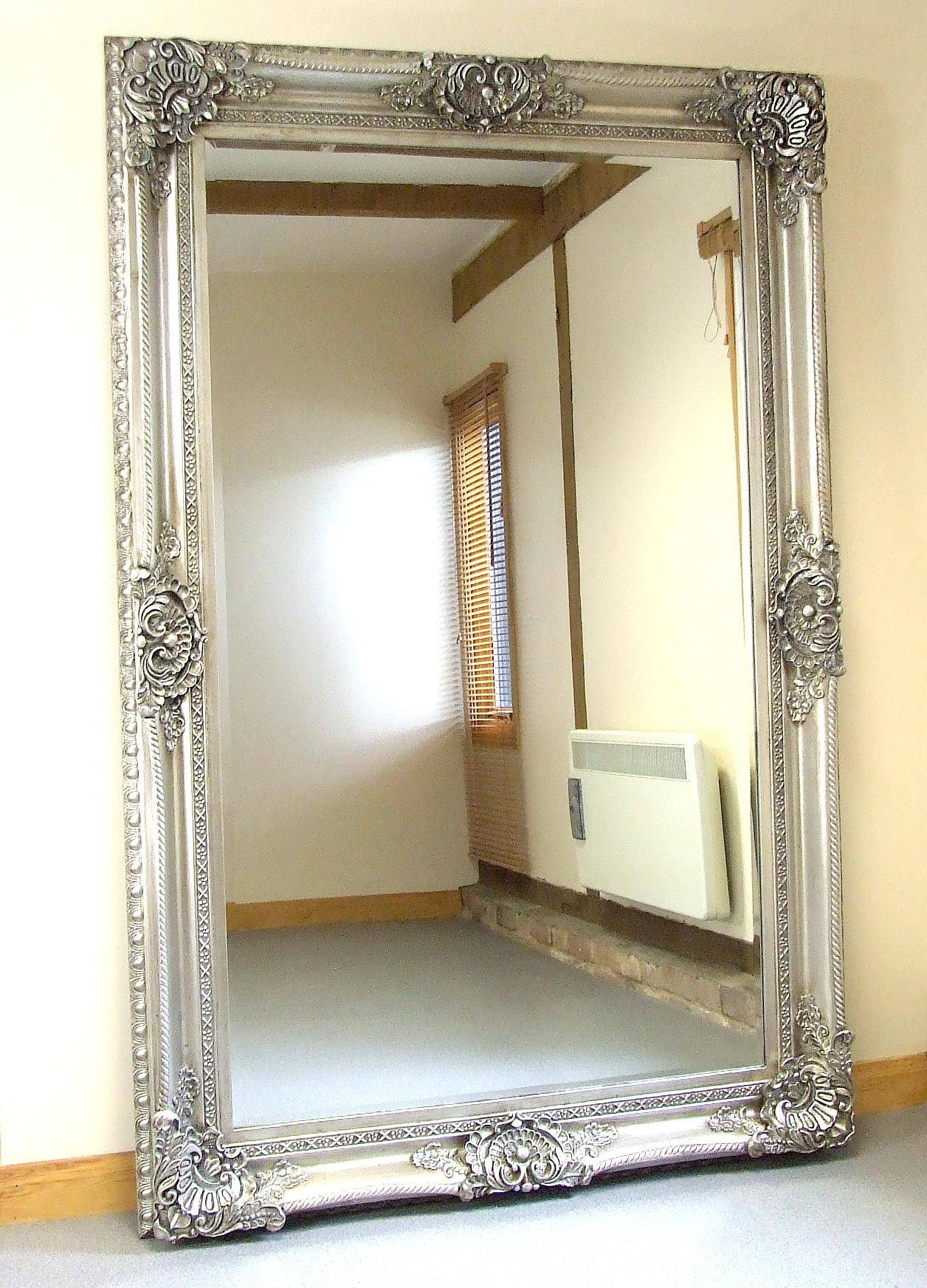 Mirror : Beautiful Ornate Floor Mirrors Extra Large Silver Antique For Ornate Floor Mirrors (View 4 of 15)