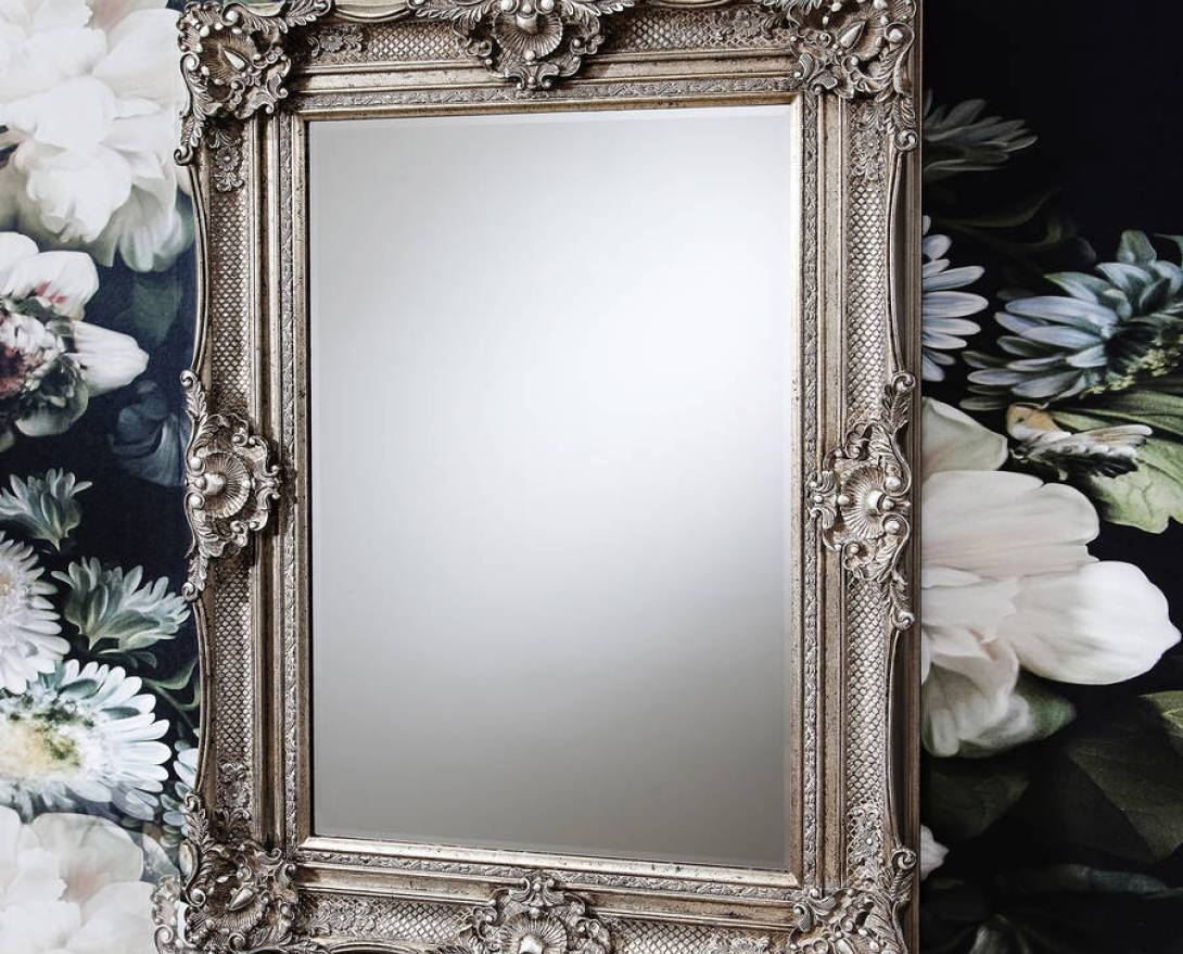 Mirror : Beautiful Silver Wall Mirror Beautiful Ornate Antique with regard to Ornate Antique Mirrors (Image 9 of 15)