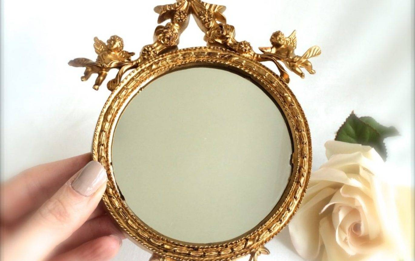 Mirror : Beautiful Small Gold Mirrors Small Gold Framed Mirrors intended for Gold Mirrors (Image 9 of 15)