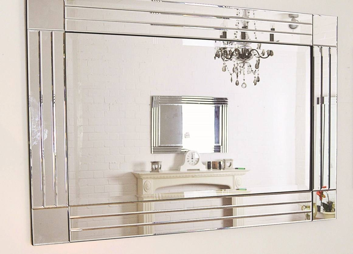 Mirror : Beveled Floor Mirror Amazing Bevelled Wall Mirror Amazing inside Double Bevelled Mirrors (Image 5 of 15)