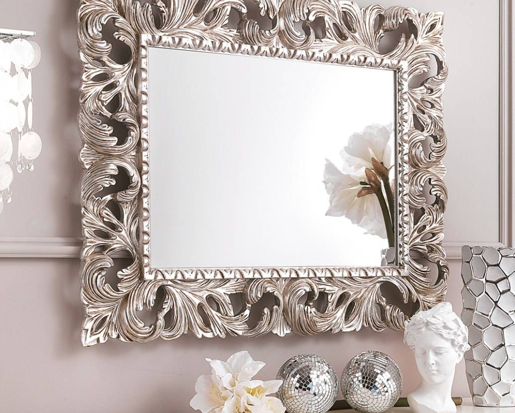 Mirror : Black And Gold Framed Mirror 15 Awesome Exterior With within Black Rococo Mirrors (Image 6 of 15)