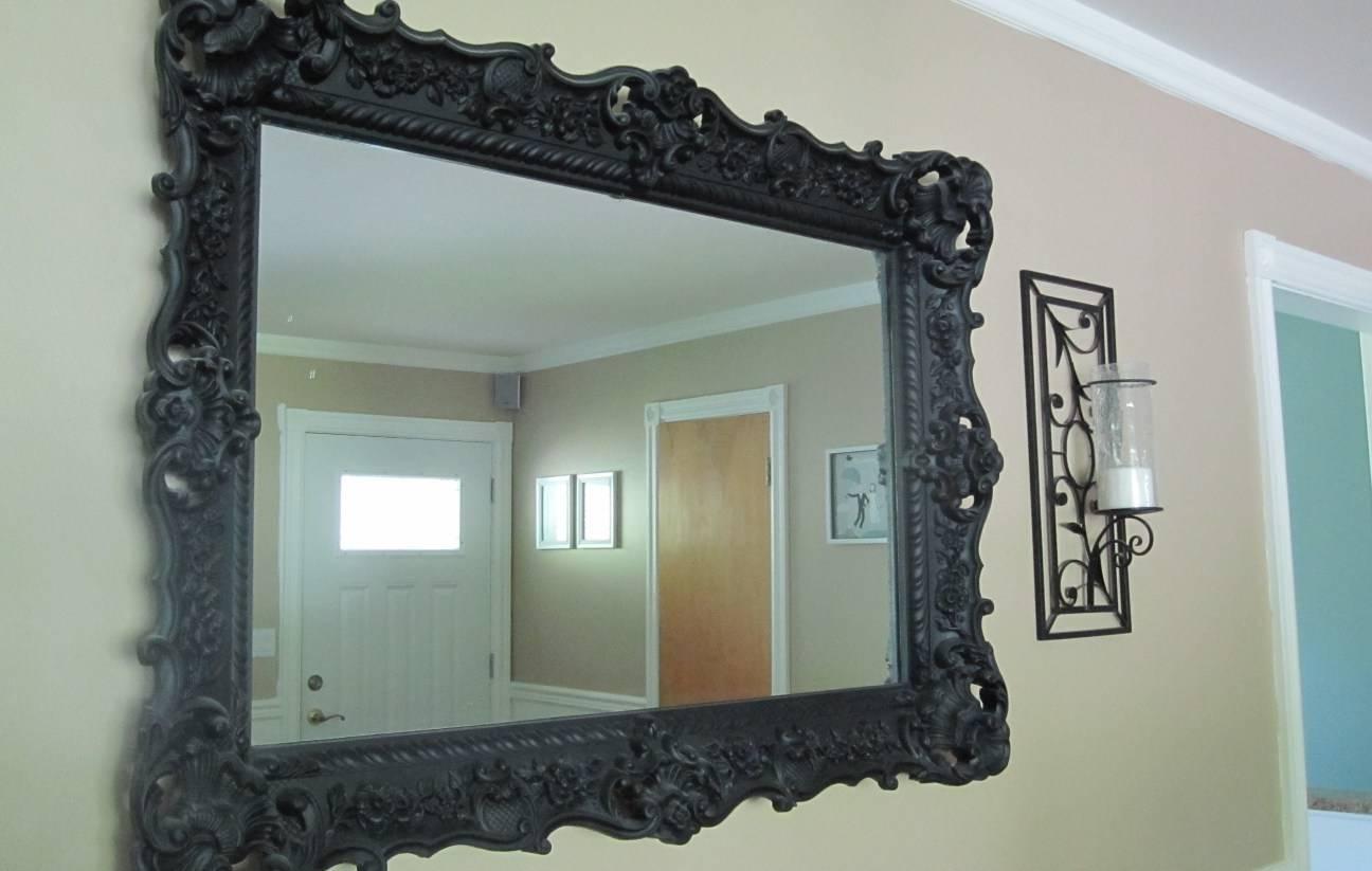 Mirror : Black Chelsea Ornate Mirror Amazing Black Vintage Mirror pertaining to Black Vintage Mirrors (Image 6 of 15)