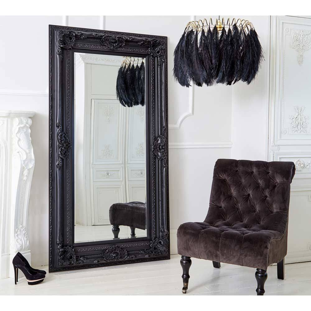Mirror : Black Floor Standing Mirror Graceful Large Black Floor With Black Floor Standing Mirrors (View 10 of 15)