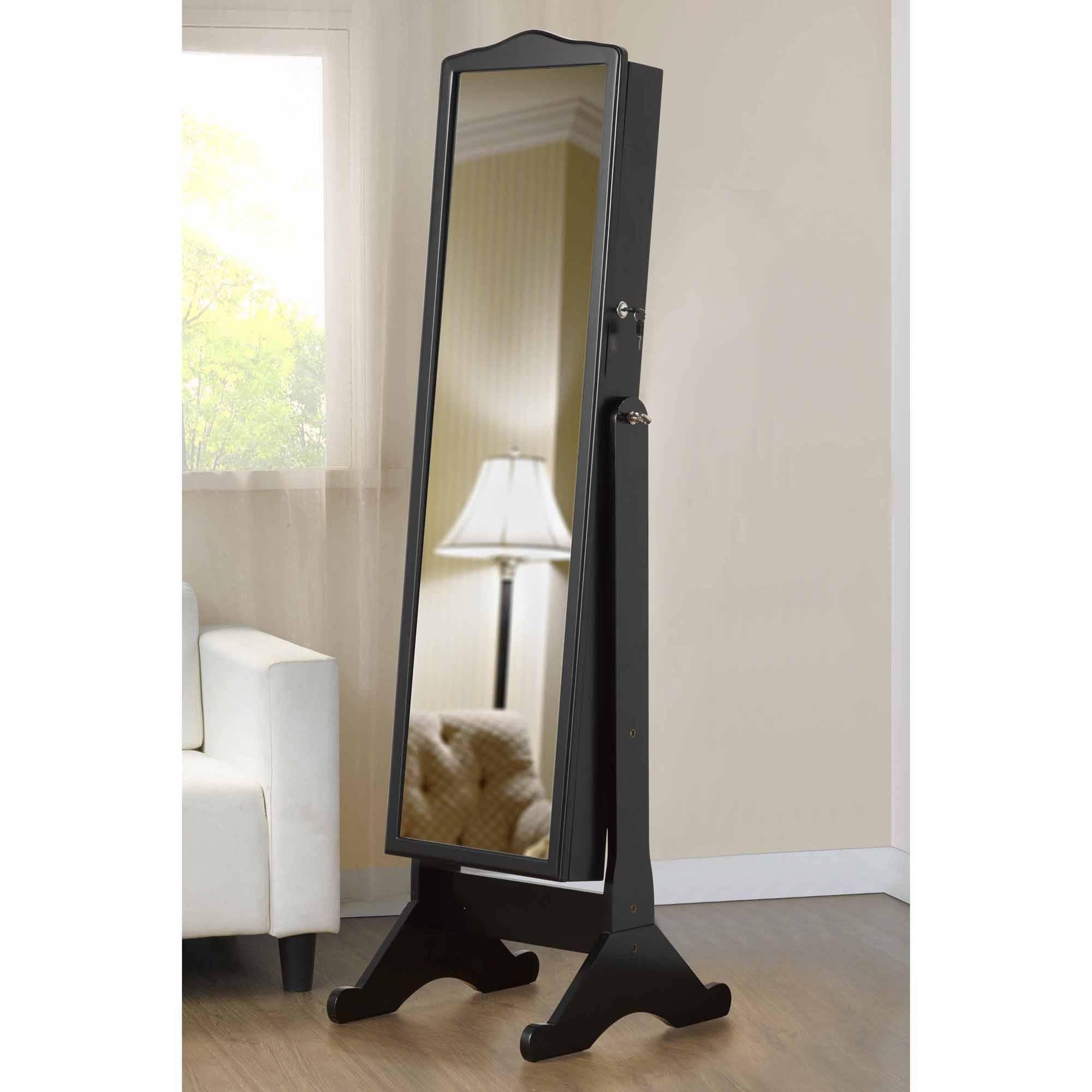 Mirror : Black Free Standing Mirror Unforeseen Black Free Standing for Black Free Standing Mirrors (Image 11 of 15)