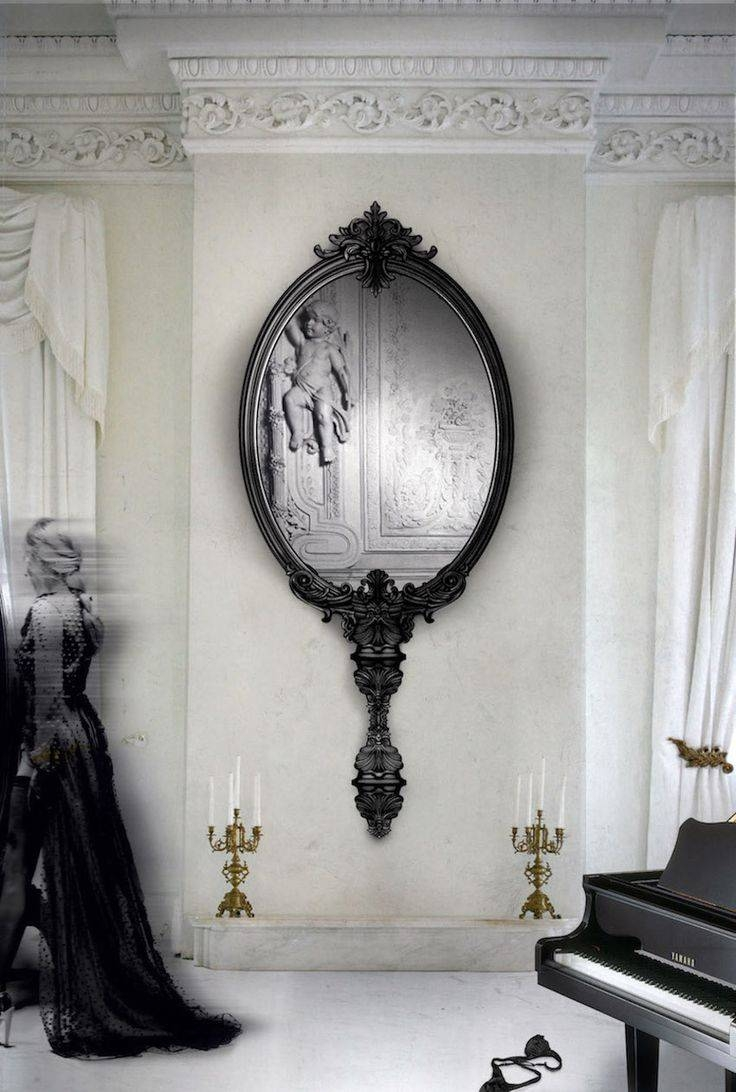 Mirror : Black Leather Framed Mirror Astonishing Black Faux Pertaining To Black Leather Framed Mirrors (View 5 of 15)