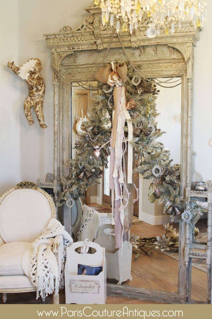 Mirror : Bright Gold Shabby Chic Wall Mirror Pretty White And Gold Inside Gold Shabby Chic Mirrors (View 6 of 15)