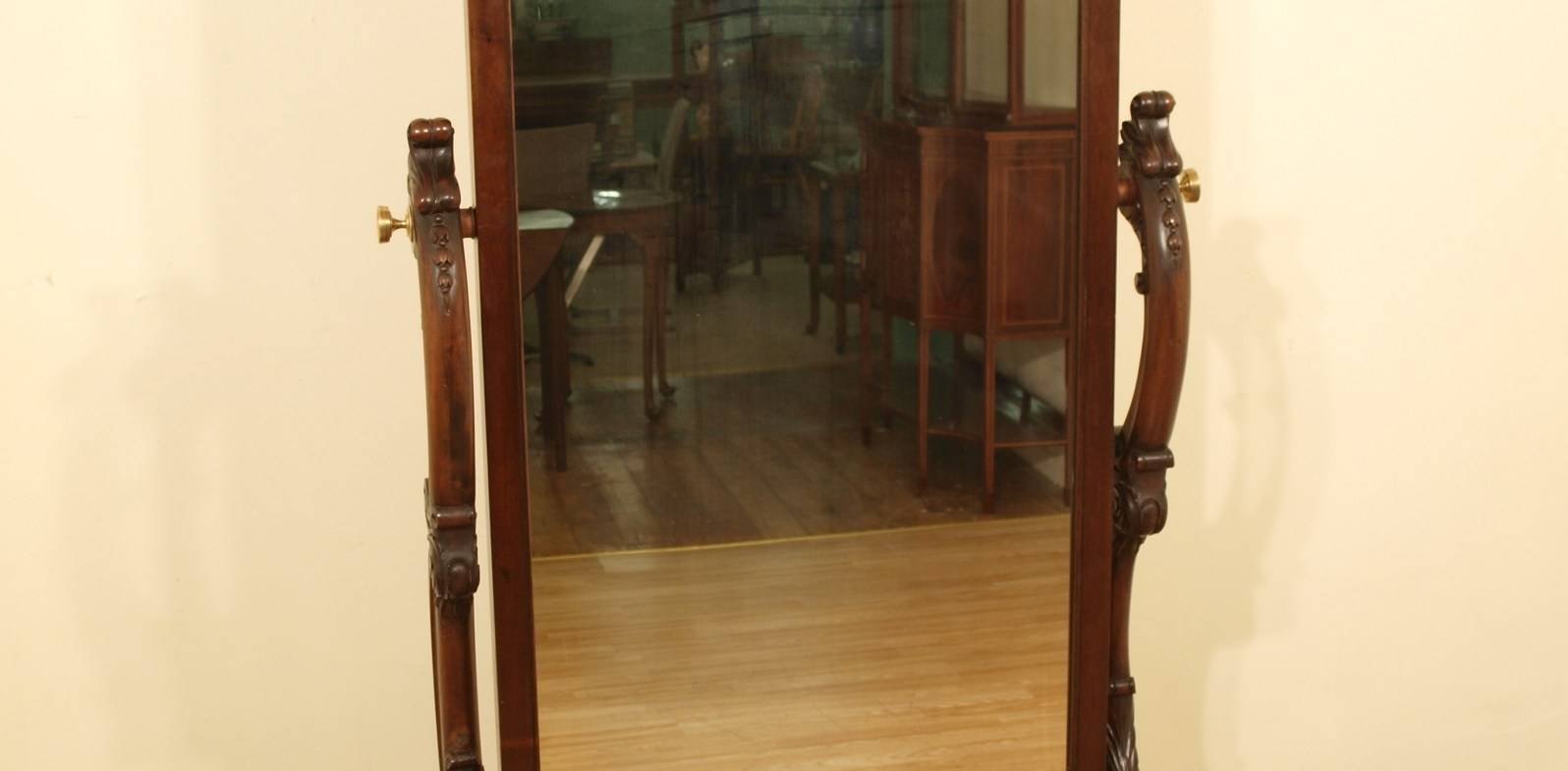 Mirror : Brilliant Vintage Free Standing Vanity Mirror Awesome pertaining to Antique Long Mirrors (Image 11 of 15)