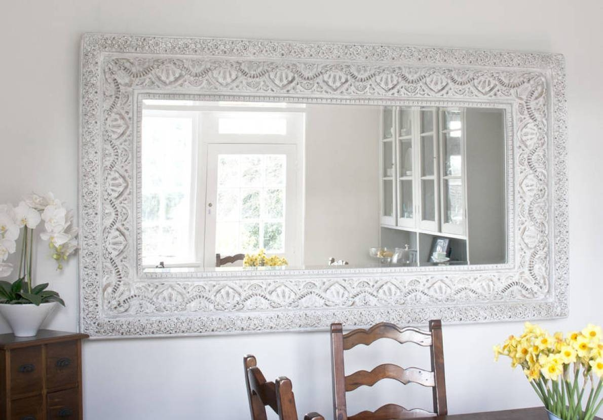 Mirror : Classic Impression On Antique Wall Mirrors Wonderful Gold within Gold Shabby Chic Mirrors (Image 8 of 15)