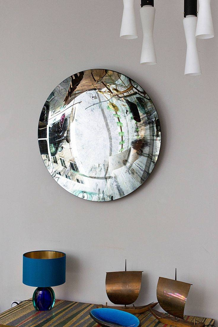 Mirror : Concave Wall Mirror Dramatic Round Wall Mirror' Bewitch Inside Concave Wall Mirrors (View 8 of 15)