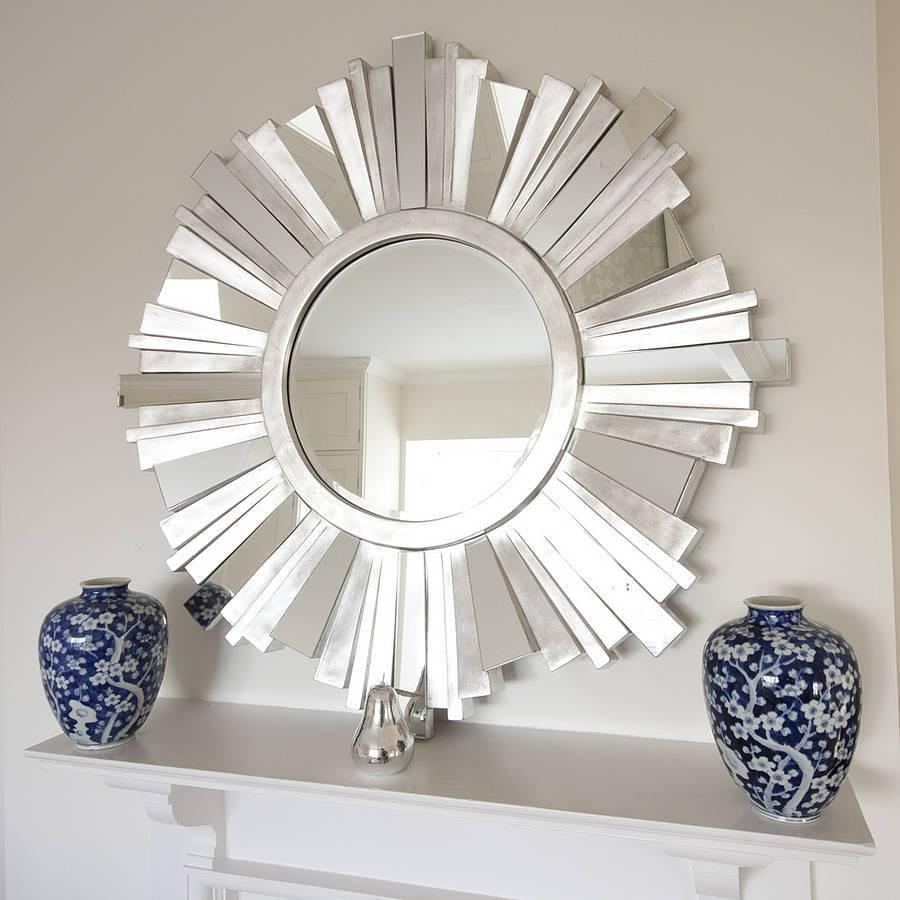 Mirror : Decorative Round Mirrors Incredible' Hypnotizing 10 Round regarding Large Round Gold Mirrors (Image 3 of 15)