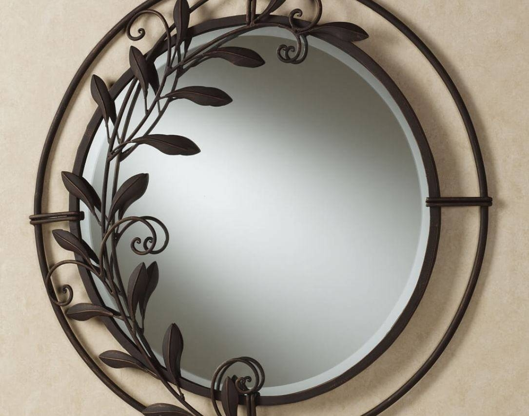 Mirror : Decorative Round Wall Mirrors Stunning Large Round Metal inside Large Round Metal Mirrors (Image 9 of 15)