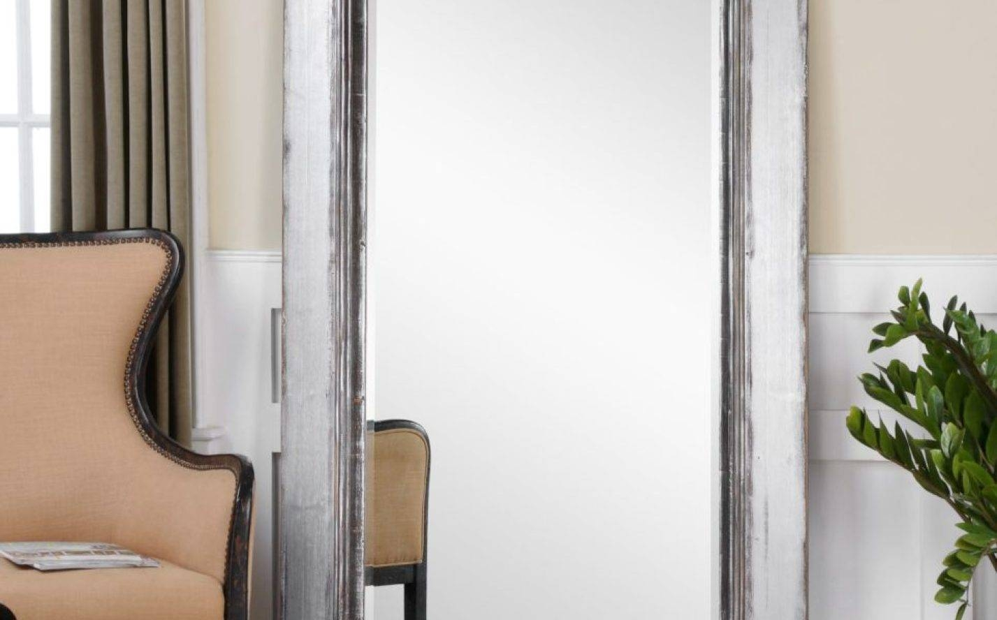 Mirror : Engrossing Full Length Silver Ornate Mirror Riveting Long Throughout Long Vintage Mirrors (View 6 of 15)