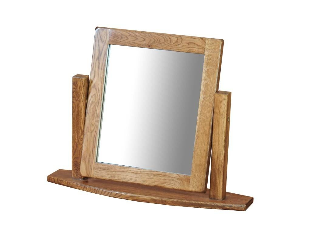 Mirror : Enrapture Rustic Oak Dressing Table Mirror Fascinate With Regard To Free Standing Oak Mirrors (View 8 of 15)