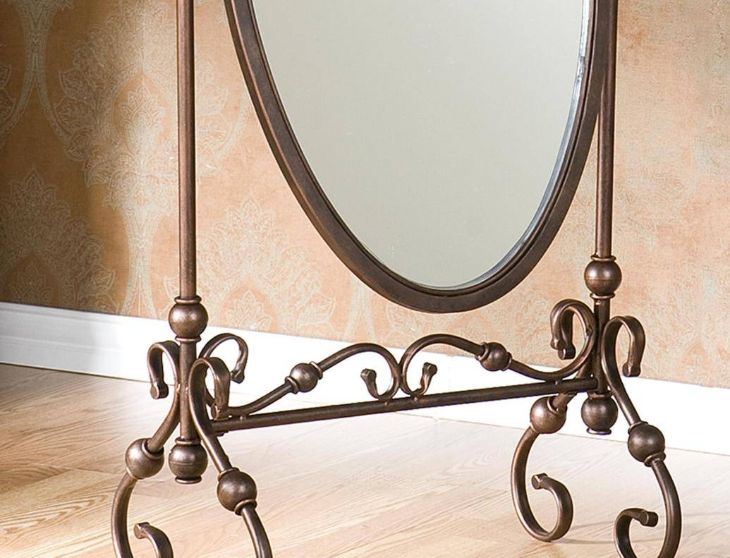 Mirror : Epic Wrought Iron Bathroom Mirrors 91 On With Wrought Intended For Rod Iron Mirrors (View 6 of 15)