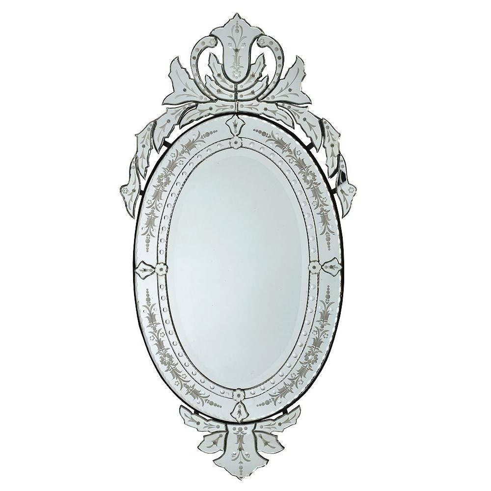 Mirror : Ernhart Oval Venetian Style Mirror Wood Composite Inside Venetian Style Mirrors (View 13 of 15)