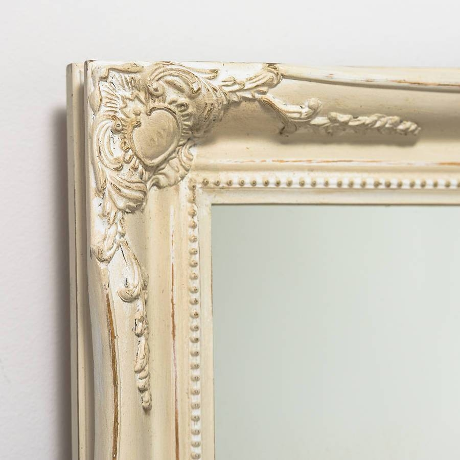 Mirror Expertly Hand Painted In Your Colour Choicehand Crafted Intended For Large Cream Mirrors (View 3 of 15)