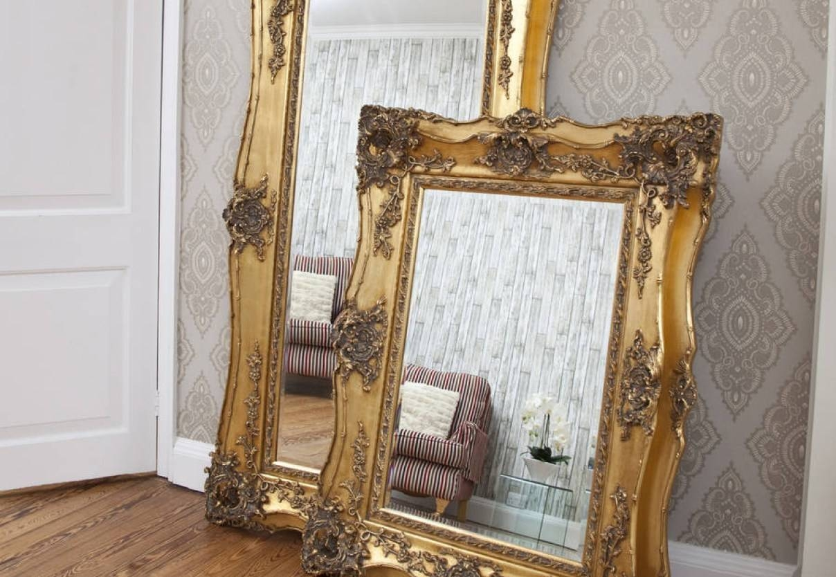 Mirror : Free Standing Mirror Wood Framed Mirrors Unique Mirrors intended for Free Standing Antique Mirrors (Image 9 of 15)