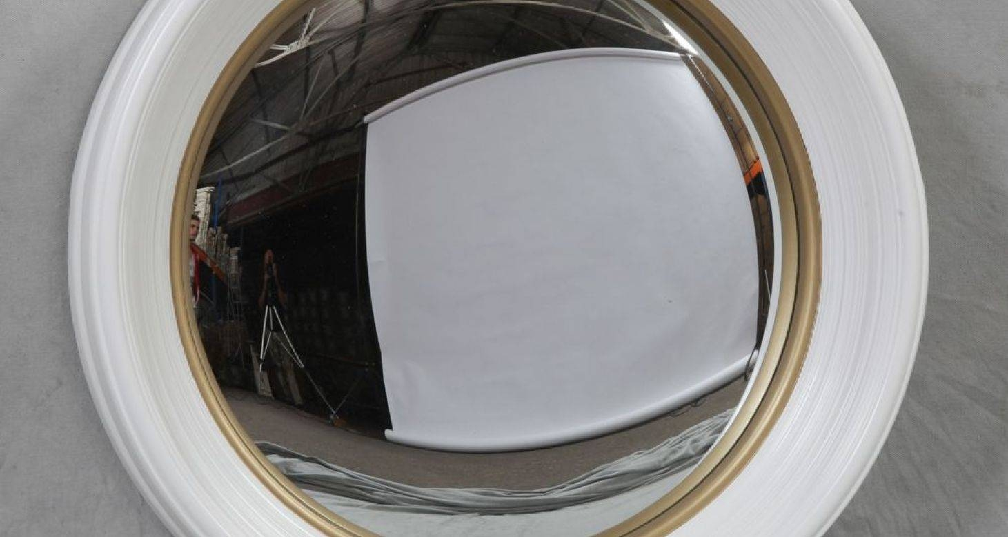 Mirror : French Napoleon Iii Extra Large Round Convex Mirror In inside Large Round Convex Mirrors (Image 8 of 15)
