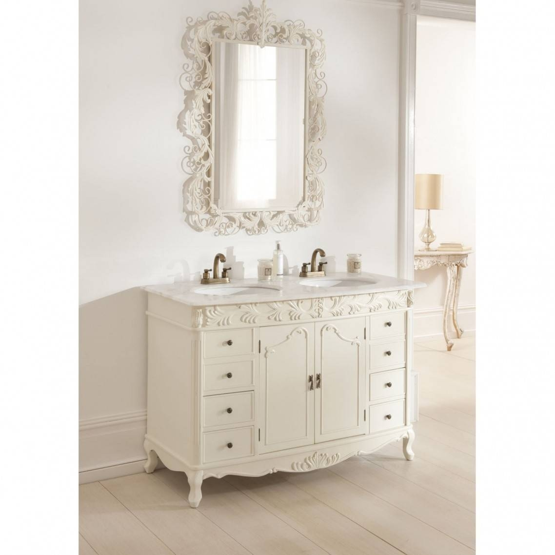 Mirror : French Style Bathroom Mirrors Home With Regard To French Within French Style Bathroom Mirrors (View 7 of 15)