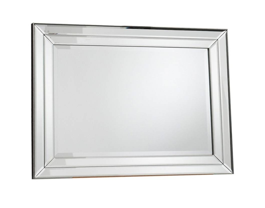 Mirror : Frightening Double Bevelled Rectangular Mirror Favored in Double Bevelled Mirrors (Image 10 of 15)