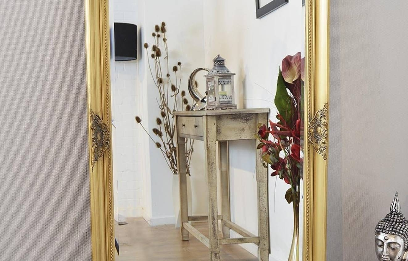 Mirror : Gold Mirrors Wonderful Gold Standing Mirror Delight Free Intended For Full Length Gold Mirrors (View 8 of 15)