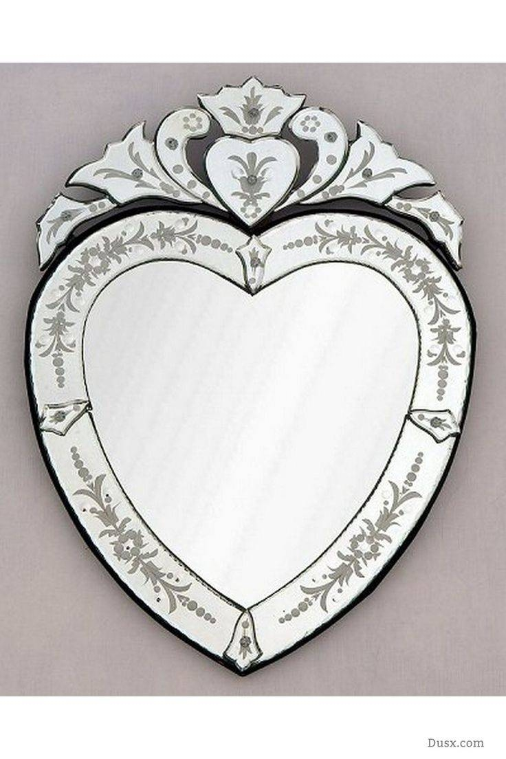 Mirror : Heart Venetian Mirror Brilliant Large Heart Venetian Regarding Large Heart Mirrors (View 9 of 15)