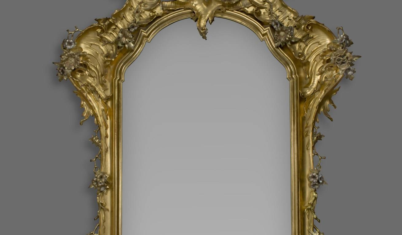 Mirror : Hinges Wood Rococo Beautiful Ornate Gilt Mirrors A Large For Ornate Gilt Mirrors (View 10 of 15)